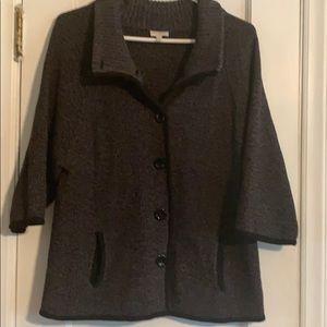Marled Black Sweater